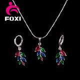 Heiße Verkaufs-Form-bunter Ohrring und Halskette