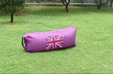 Le sofa gonflable rapide de sac d'air de sommeil de lieu de visites en nylon avec la poche, Laybag a personnalisé pour camper de déplacement