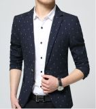 Juventude Printed Leisure Men Slim Suit