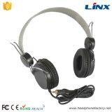 Schwarzer PC kundenspezifischer Kopfhörer mit Mic.