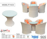 Best Selling Garden Aluminum Frame PE cadeiras e mesas de vime de rotinas