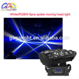 indicatore luminoso del ragno della discoteca di 8PCS 4 In1 RGBW 10W LED/indicatore luminoso capo mobile fascio del ragno