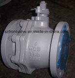 De Van een flens voorzien Kogelkleppen van het roestvrij staal 2PC