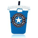 Cubierta suave más del teléfono de la taza de té de la leche de la caja 6 del teléfono celular 3D del iPhone 6 de Starbucks (XSF-011)