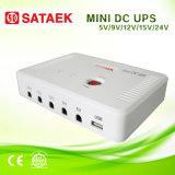 портативный миниый UPS 5V/9V/12V/15V/24V с батареями 6000mAh/12000mAh