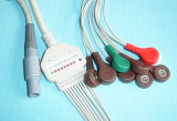 Câble EKG / ECG Snap IEC simple en plastique 14 pouces