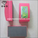 Garniture de polonais de meulage en verre HD-3 de main Electroplated en pierre de diamant (100X55mm)