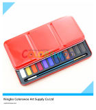 24 colori Water Color Cake in Iron Box per Painting e Drawing