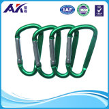 "3 "" Home, RV, Camping, Fishing, Hiking, Traveling 및 Keychain를 위한 /7.5cm Assorted Colors D Shape 봄 Loaded Gate Aluminum Carabiner"