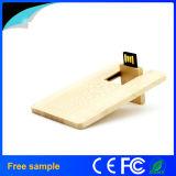 昇進のギフト8GBの自然な木製のカードの形USBのフラッシュ駆動機構