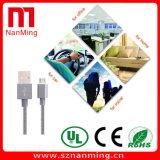 Металл заплел заряжателя USB кабеля Sync данным по 1.0m поручать микро- быстрый