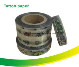 Autoadesivo diretto del tatuaggio di trasferimento della pellicola chiara della pera