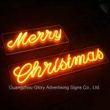 Luzes de néon da decoração do Natal do diodo emissor de luz
