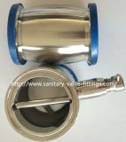 Edelstahl Sanitary Check Valve Ball Type mit Ferrule Both Ende und Manual Drain