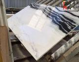壁のクラッディングまたはフロアーリングのための自然な石造りの中国のパンダの白い大理石の平板