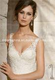 Выполненная на заказ разработанная сатинировка шнурка безрукавный платье венчания Trumpet Mermaid V-Шеи (Dream-100073)