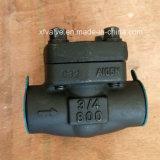 API602 Acero al carbono forjado Rosca NPT A105 End válvula de retención