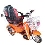 triciclo eléctrico de 500W 48V con la cesta delantera y la luz del LED