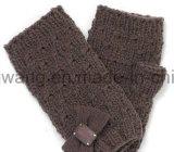 Связанные способом акриловые теплые перчатки/Mittens жаккарда
