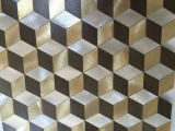 Плитка мозаики Materal украшения золотистая алюминиевая для плитки пола (FYMM016)