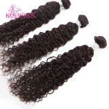 Естественные черные человеческие волосы Welf Remy волос Vrigin бразильские