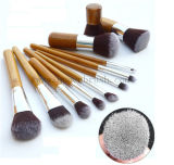 Hair sintetizado Brushes Bamboo Cosmetic Makeup Brush Set con Bag
