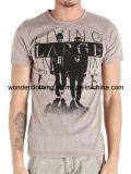 Le coton des hommes T-shirt rond de collet conçoivent ou d'impressions en fonction du client de logo