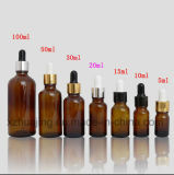 DIN 18mm Black Essential Oil Glass Dropper Bottle