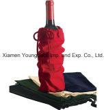 Вино 4 бутылок выдвиженческой изготовленный на заказ ткани Eco содружественной Non-Woven многоразовое носит мешок