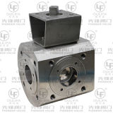 Wafer a tre vie Type Ball Valve con Short Suprt Length
