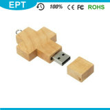 Kreuzförmiges hölzernes Keychain USB-Blitz-Laufwerk für freie Probe