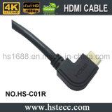 Правое Angled HDMI с локальными сетями & 3D типом кабелем c M/M