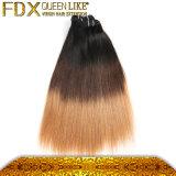Extensão do cabelo reto de 3 tons