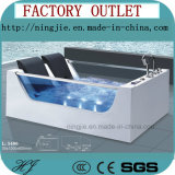 Banheira acrílica de vidro frente e verso da massagem da mobília do banheiro (5406)