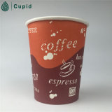 Kundenspezifisches Logo Printed Disposable Paper Cup mit Lid, Double Wall Paper Cup