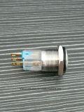 16mmの自己のロックリングLED 1no1ncの押しボタンスイッチ