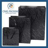 2017 Bolsa de papel de lujo de encargo para el paño y el hacer compras (precio de venta de la fábrica) (DM-GPBB-046)