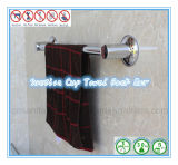 Cremalheira de toalha da prateleira do banheiro com a única barra de toalha