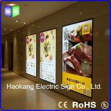 Comitato acrilico del LED per la scheda sottile del menu della casella chiara del LED