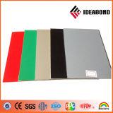 Ideabond que hace publicidad del panel compuesto de aluminio del poliester de la tarjeta