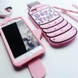 Eiscreme-Telefon-Kasten-weicher Silikon-Gummi-Kasten für iPhone 6 6s 6plus 5 5se 7 7plus (XSF-052)