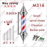 Muestra giratoria poste del peluquero de la manera del certificado de RoHS del Ce