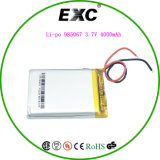 Polímero de ion de litio Exc985067 3.7V4000mAh de litio polímero de litio para la tableta