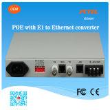 Poe E1 zu Ethernet Protocol Converter mit Power Supply