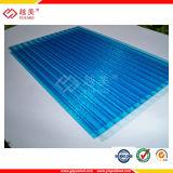Feuille de mur vert-bleu claire de triple de polycarbonate de GV 6mm&8mm