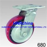 Émerillon rouge de roue de semelle d'unité centrale avec le dessus de plaque de blocage