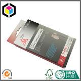 Caixa de empacotamento de papel do cartão branco com o indicador para o queque