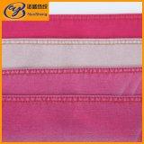 サテン織り方ロープの赤いカラーの染まる綿ポリエステルスパンデックスのデニム