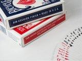 新しいカスタムロゴによって印刷されるペーパー火かき棒のペーパートランプのゲームカード