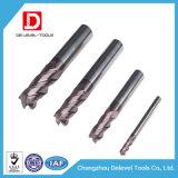 4 molinos de extremo por encargo especiales de las flautas para la capa Si del acero inoxidable